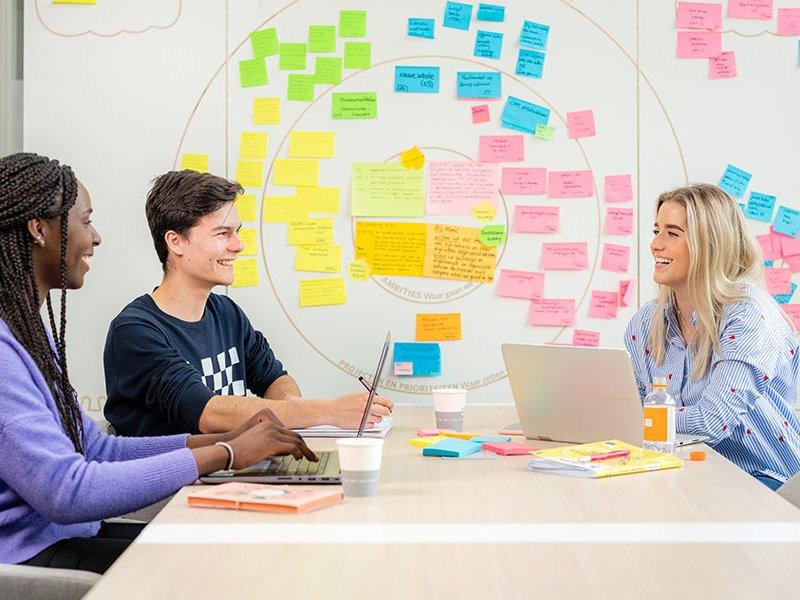 Voltijd studenten werken aan project Zwolle